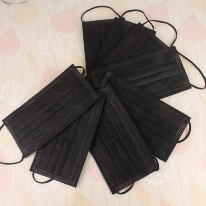 ENHUI Factory Wholesale High Quality BFE 98 Medical Surgical Mask black 3-ply disposable face mask