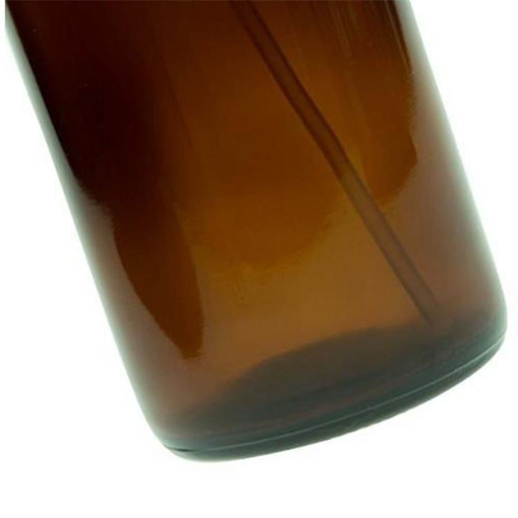 16oz Glass Boston Round Bottle With Cap Or Spray