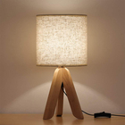 new desk lamp with farbic lampshade Bedside standing lamps with wodden leg
