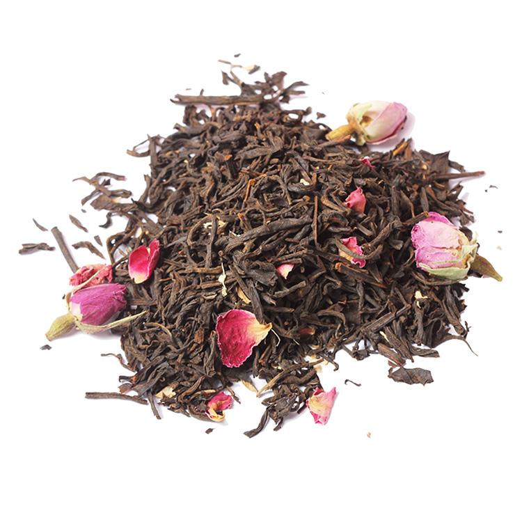 Chinese Breeze Spring Organic Cherry Rose Blossom herbal Tea Premium Chamomile Fruit Essence Flavored Blend Ginger Black Tea - 4uTea | 4uTea.com
