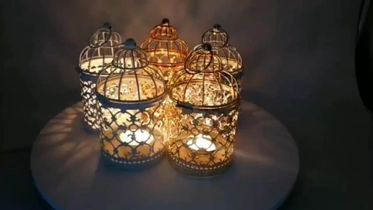 Mini Metal Lattice Lanterns Decorative Wedding Candlestick Metal Lantern
