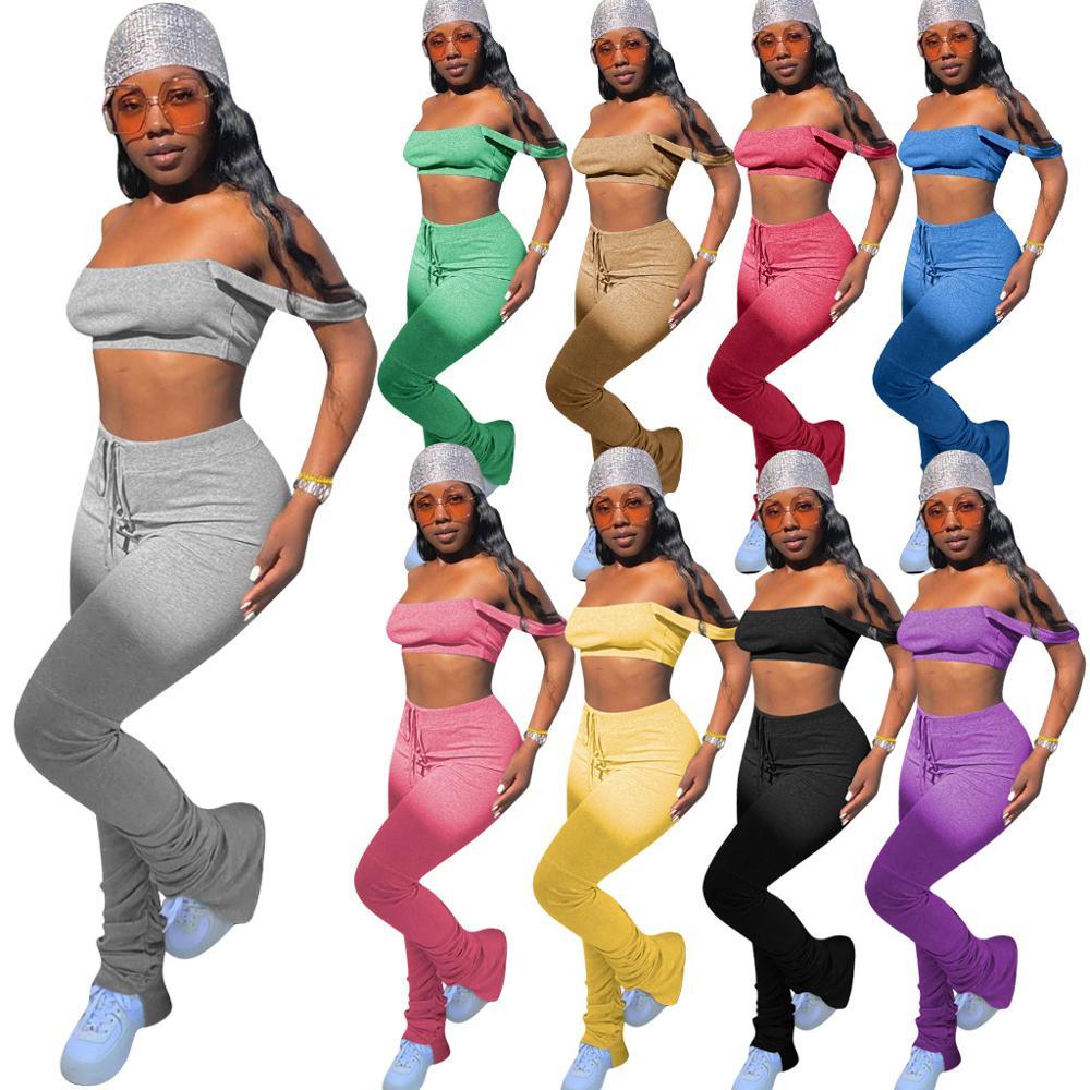 2020 Women Two Piece Pant Sets Clothing Outfits Women Winter Denim Jackets Coats Jeans Pants Trousers Sets