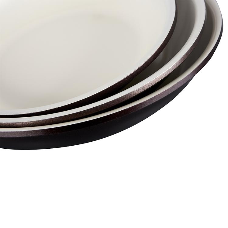 Hot Sale Kualitas Tinggi 18-30 Cm Digunakan Berpengalaman Stainless Steel Fry Pan Memasak Pot Lapisan Non Stick Frying pan