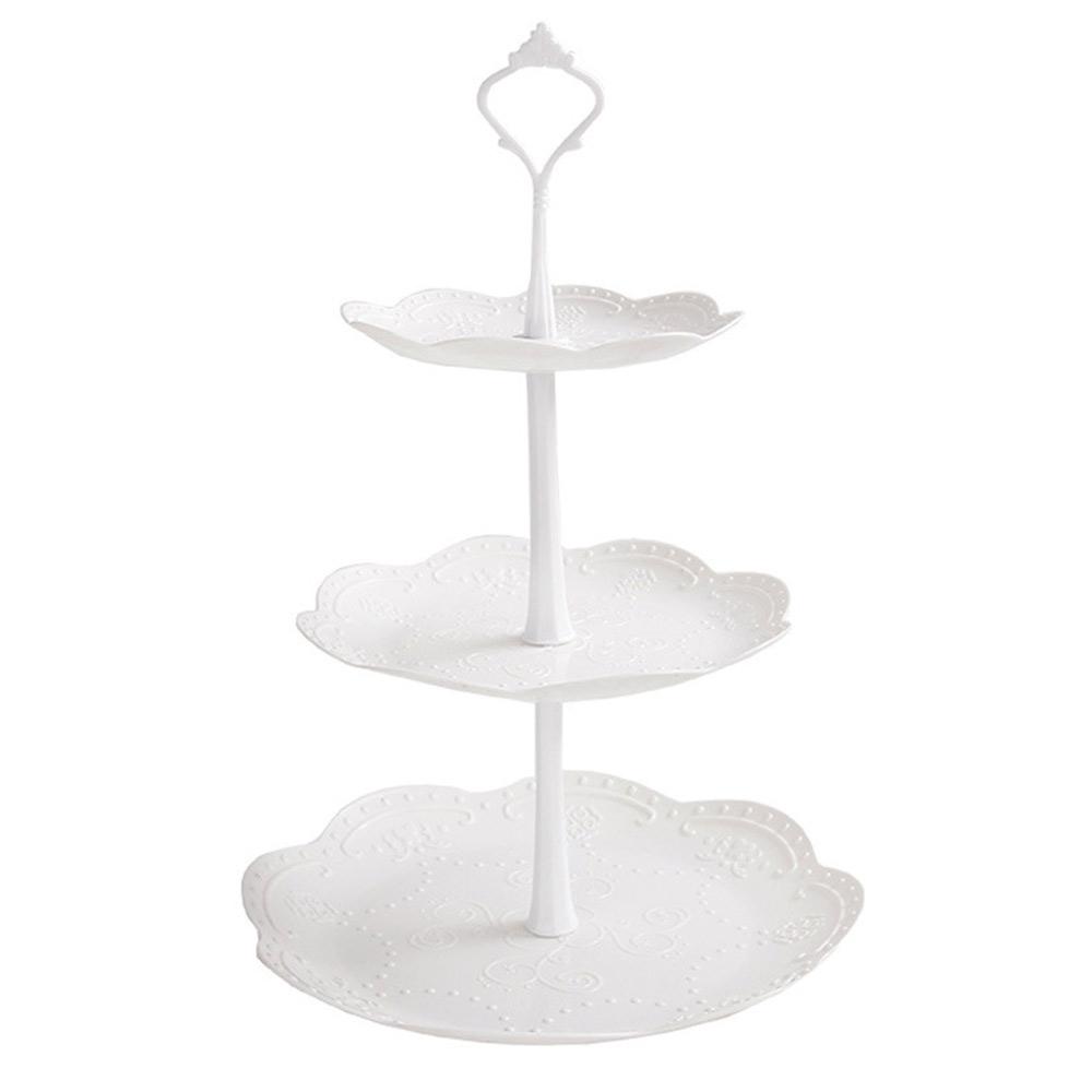 3 katlı meyve tepsisi tatlı kule düğün pastası standı