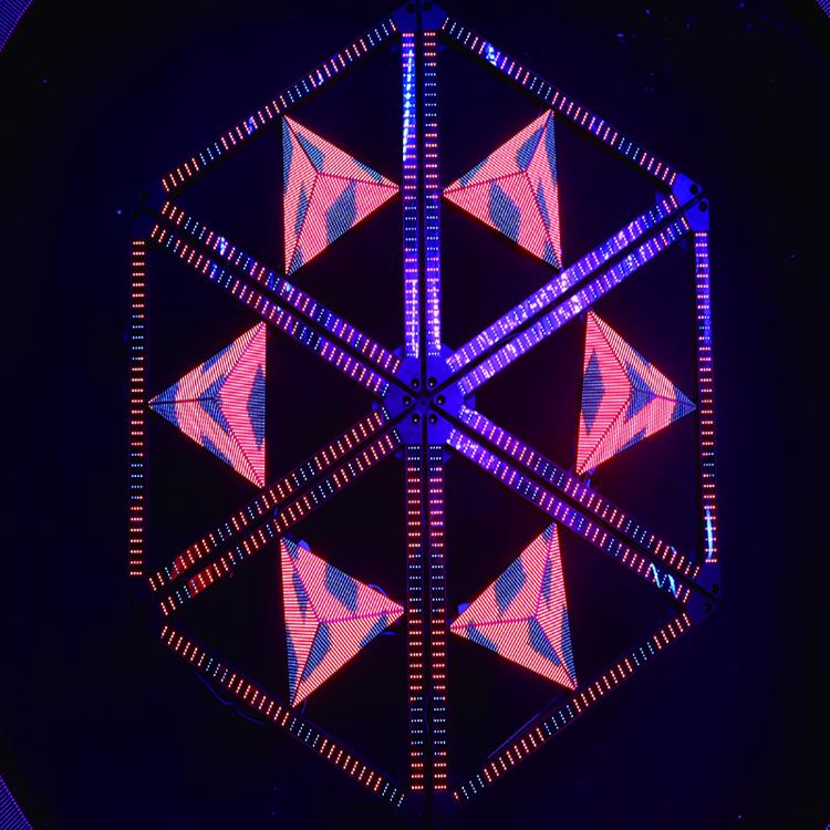 full color rgb matrix control mini led special shape display screen/led triangle display