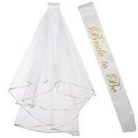 Wholesale Bride To Be Sash Hen Part Bridal Shower Bachelorette Supplies Decoration Crown Veil