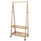 Home Furniture Simple Hanging Bamboo Clothes Rack