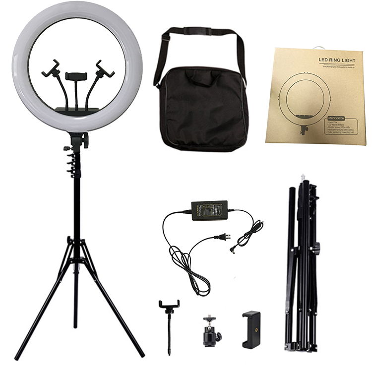 18 Inches Photography Photo Studio 416 LED Ring Light 5800K Dimmable Camera Ring Video Light Lamp