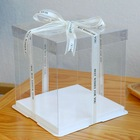 Packaging Box Cake Box 10 Inch Packing Boxes Rectangle Baking Cake Boxes Clear Long Dessert Boxes for Bakery