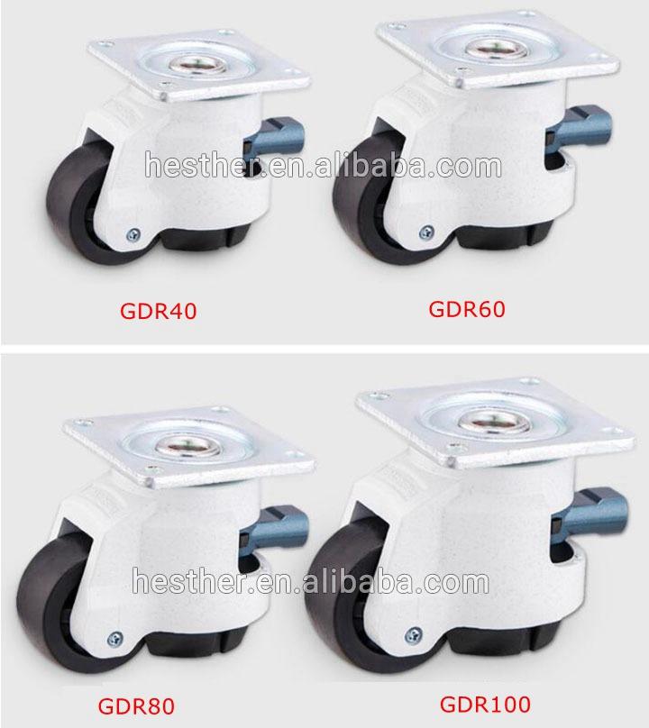 Roue PA hauteur réglable en plastique roulette de nivellement GD 40