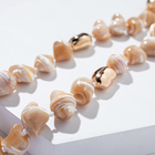 Bohemian Handmade Handmade Bead Necklace NLX-01017 NLX-01017 White Puka Natural Sea Shell Necklace Jewelry Bohemian Charm Handmade Beaded Choker Necklace For Women