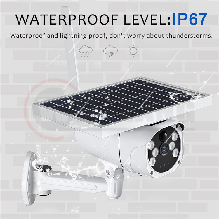 1080P 2MP Solar 4G Camera Wireless Security Surveillance Camera IR Night Vision Solar Power HD Camera Outdoor