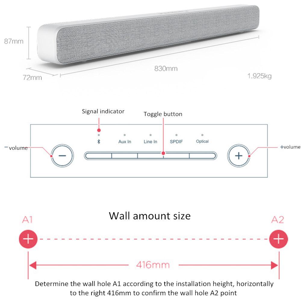 Xiaomi TV Audio Home Theater Soundbar Speaker Wireless Sound Bar Mi SPDIF Optical Aux Line Support Kinds of Smart TV