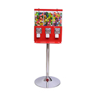 coin operated gift table top spiral chewing bubble gum gumball custom candy vending machine