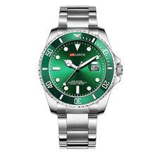 Роскошные Кварцевые наручные часы, модные брендовые мужские часы из нержавеющей стали, деловые водонепроницаемые мужские часы с датой, reloj ...(Китай)