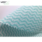 Colorful Green Polyester/viscose Spunlace Nonwoven Fabric Roll Cleaning Cloth For Wet Wipes / Home Textile / Kitchen / Workshop