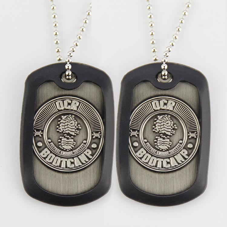 Stainless Steel Wholesale Print Blank Custom Metal Military Dog Tag