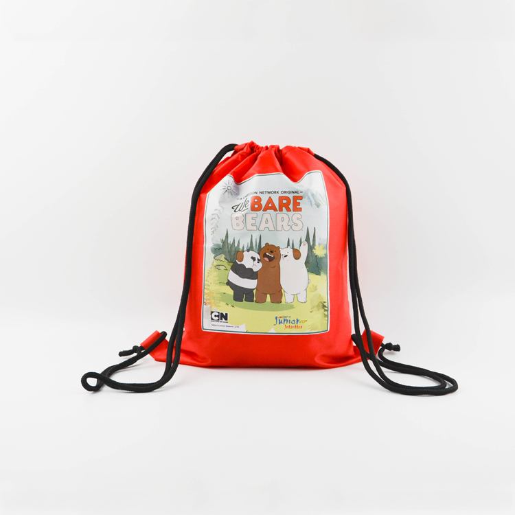 Custom Print Promotion Gifts Bag Waterproof Drawstring Backpack Wholesale 210d Polyester Drawstring Bag with logo