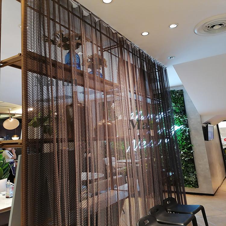 מפעל מחיר מסעדה קישוט חדר מפריד אלומיניום מתכת וילון מחיצת מסך