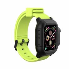Водонепроницаемый чехол для Apple Watch band 5, ремешок iwatch 44 мм 40 мм 42 мм, силиконовый ремешок, браслет, Смарт-часы, аксессуары, петля(Китай)