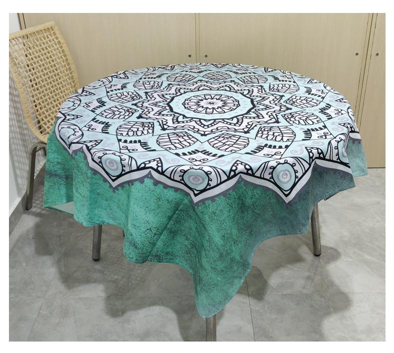 Promosyon özel taze yeşil restoran masa örtüsü baskılı duvar dekoratif masa örtüleri