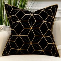 New design Geometric golden stitch cushion pillowc for bedroom