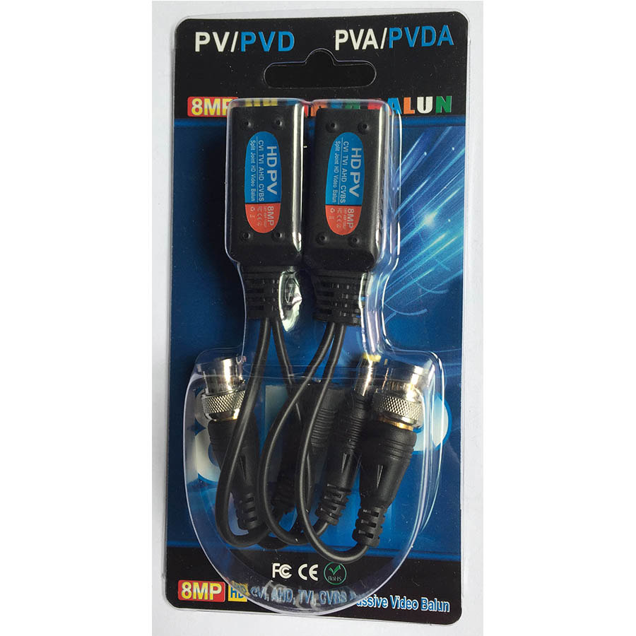 Power + video two-in-one passive twisted pair transceiver RJ45 balun