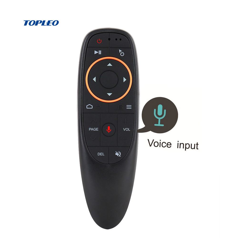 Topleo Custom Giroscopio G-sensore intelligente 2.4g usb ir universale tv wireless air mouse telecomando