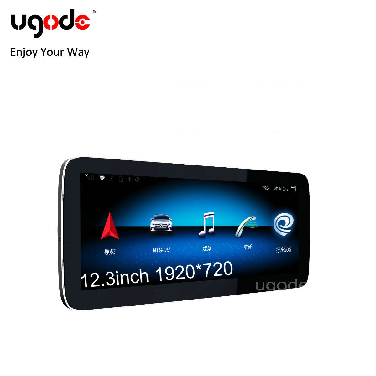 Ugode GLC W205 12,3 zoll LG HD LCD Touch Screen 1920 Monitor Android 10,0 Auto GPS Stereo Media Player für benz neue C