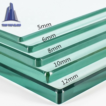 wholesale customs 4mm 5mm 6mm 8mm 10mm colored clear tempered glass price for table top