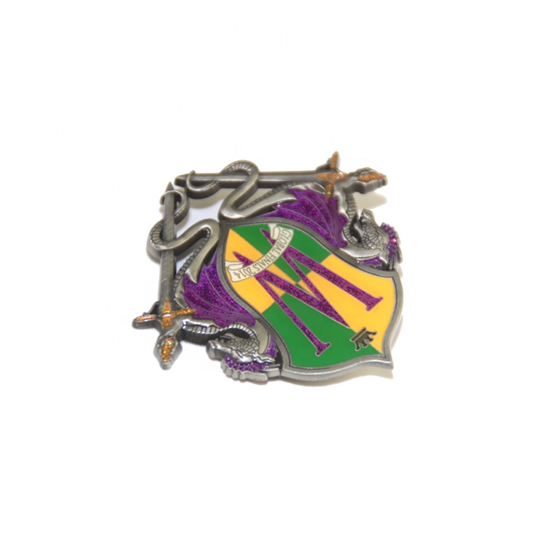 DIY Style Dragon Slayer Badge Hard Small Colorful Badge Pin