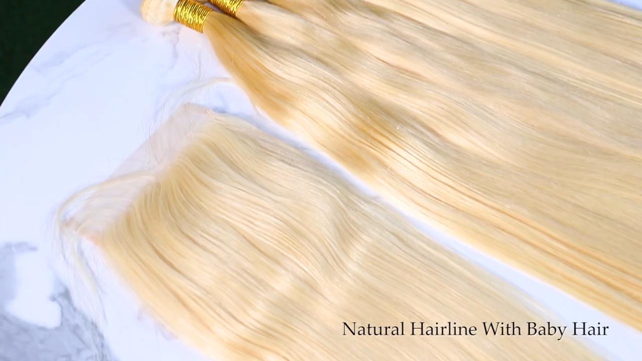 जी एस थोक 613 गोरा मानव बाल एक्सटेंशन, 613 बाल बंडलों काले महिलाओं के लिए, उच्च गुणवत्ता 100% रूसी मानव बाल विस्तार
