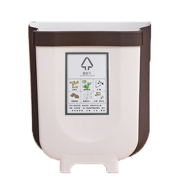 Novel Appearance Recyclable Container Car Wall-Mounted Trash Can, Rectangular foldable Kitchen Trash Can Garbage Bin