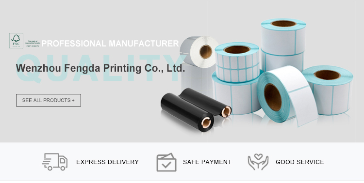 Manufacture high quality custom size dry thermal printing sticker label roll