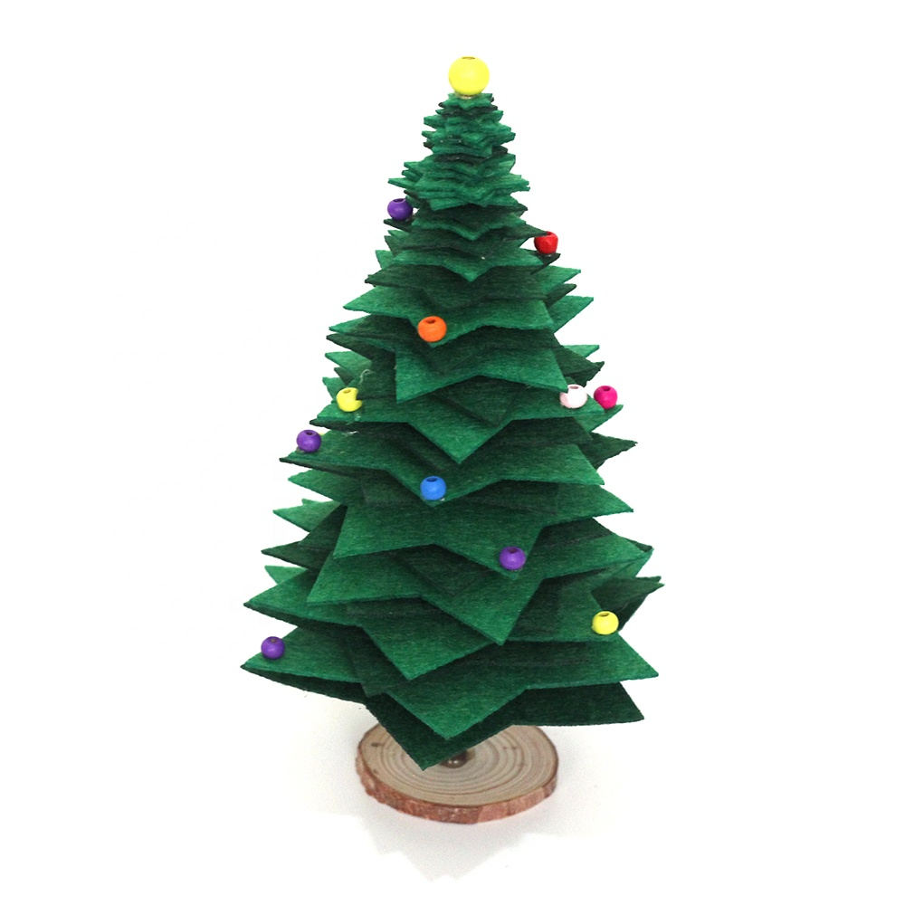 Custom Non-woven Fabric Xmas Decorating Artificial Christmas Tree DIY Supplies Kit