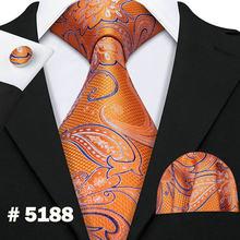 Новый мужской галстук 100% шелк розовое золото свадебный галстук для мужчин бизнес 8,5 см широкий галстук платок Barry.Wang LS-5078(Китай)