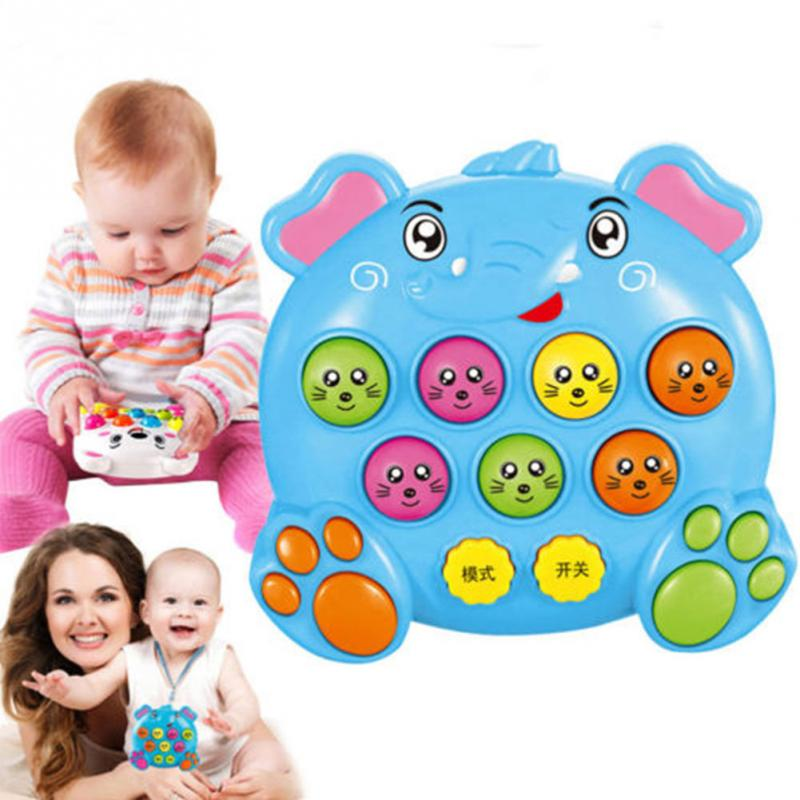 Baby Kids Plastic electronic Music Toy Play Knock Hit Hamster Insect Game Playing Fruit Worm Educational instrumentos musicais