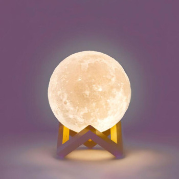 3d print moon shape led night light moon lamp 8 colors blue tooth wireless speaker for kids indoor