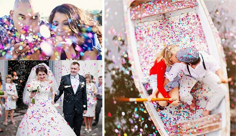 Mixed Shaped And Colours Tissue Paper Wedding Confetti