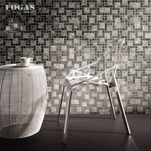 Black Ice Kêu Răng Rắc Glass Tile <span class=keywords><strong>Backsplash</strong></span> Trong Kho Mosaic Glass Tile