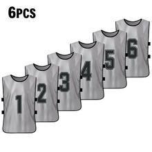 6 шт. Баскетбол для взрослых Pinnies быстросохнущие баскетбольные майки Футбольная команда тренировочный жилет(Китай)