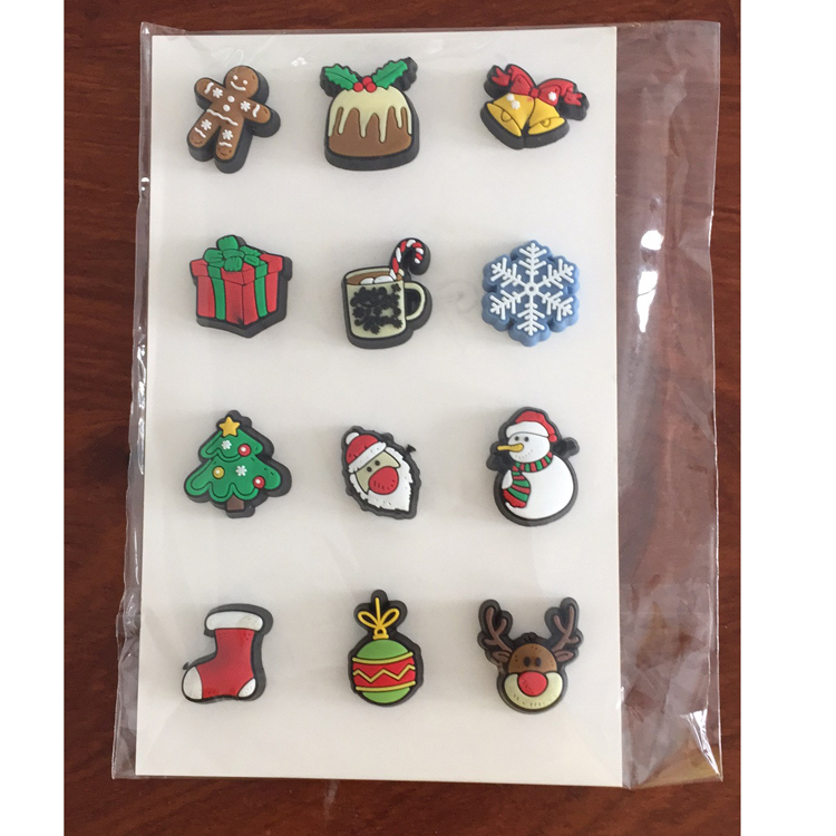 Christmas Holiday Magnetic Wine Glass Charms Cocktail Markers Set of 12