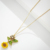new arrival 14k  gold plated   stick chain enamel 3D layered sunflower pendant necklaces