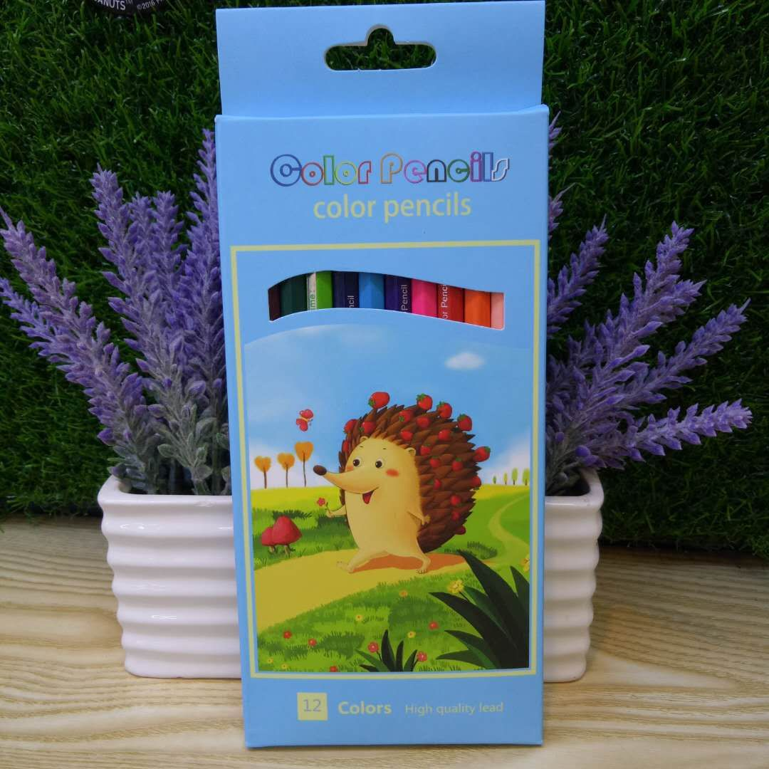 Cheap Wholesale Wooden Pencil Set 12 Colour Pencils Set