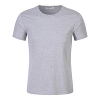 Retro pure cotton t shirt homme,men slim athletic shirt for men,blank crew neck t-shirt men oversize stylish t shirt slim fit