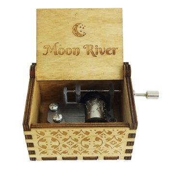 Wholesale Hand Crank Wooden Moon River Music Box Philippines for Gifts