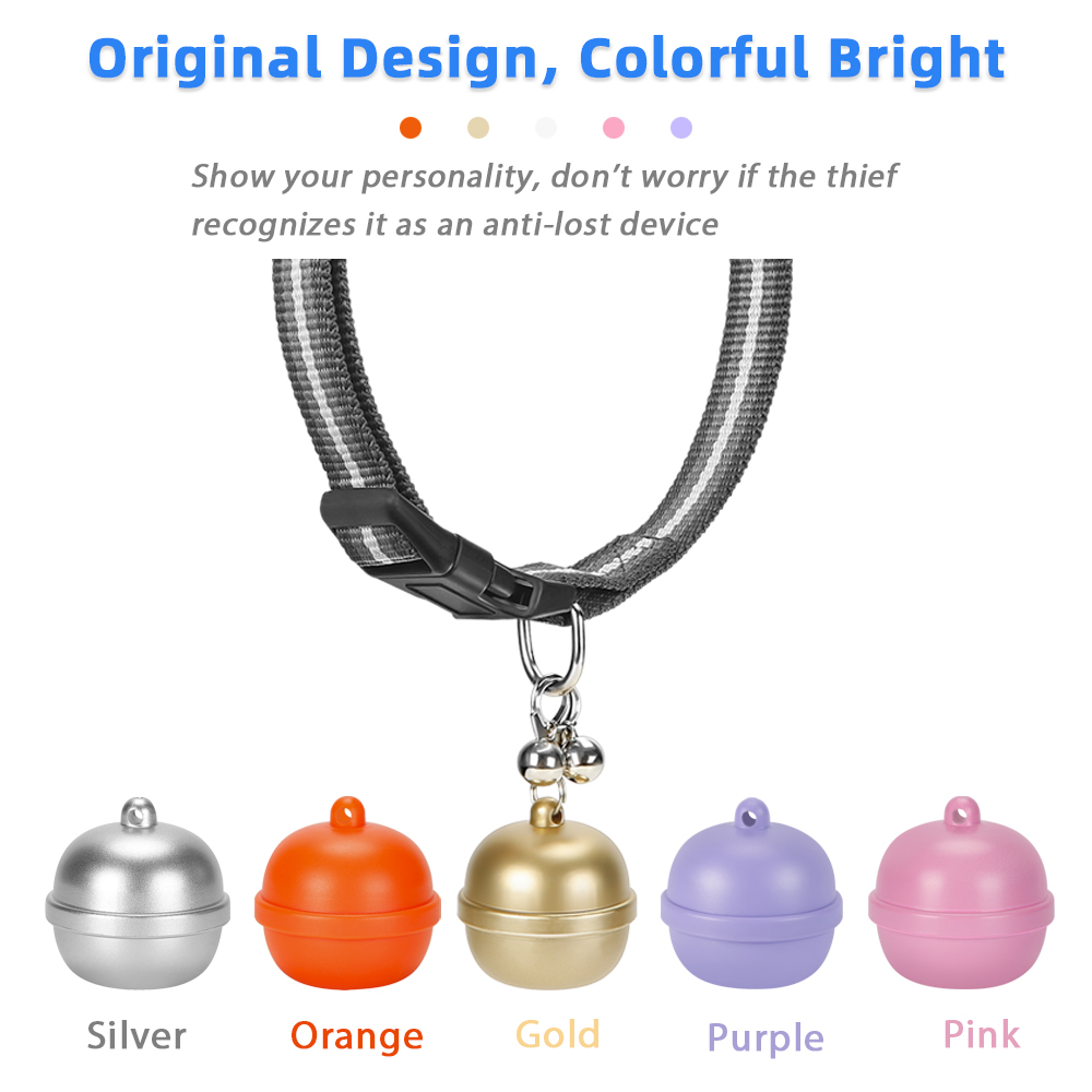 Unique bell shape waterproof GPS mini tracker for pet dog/cat/bird/wild animals, support free APP+PCB web tracking system