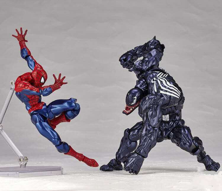 Marvel 18cm Amazing Spider-Man Venom action figure model toys Anti Venom movable figurine pvc collection toys for gifts