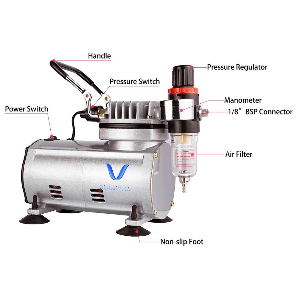 LinhaivetA rohs tanning pump mini airbrush compressor machine tattoo air brush