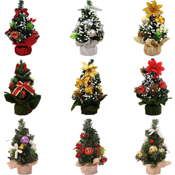 YB Wholesale Outdoor Christmas Decoration Supplies Kids Gifts Indoor Ornaments Led Lights Wreath Artificial Christmas Trees